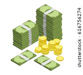 money isometric vector | Shutterstock .eps vector #616756274