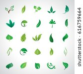 leaf icons set  vector... | Shutterstock .eps vector #616759664