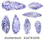 hand drawn collection with blue ... | Shutterstock . vector #616761656