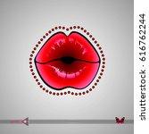 vector glamorous lips. icon...   Shutterstock .eps vector #616762244