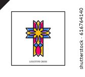 church logo. christian symbols. ... | Shutterstock .eps vector #616764140