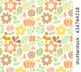 floral seamless pattern in... | Shutterstock .eps vector #616764218