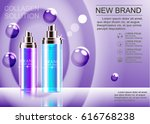 advertising a cosmetic product... | Shutterstock .eps vector #616768238