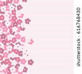 scenic flower pattern isolated... | Shutterstock .eps vector #616768430