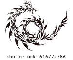 tribal dragon | Shutterstock .eps vector #616775786