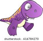 crazy insane dinosaur vector... | Shutterstock .eps vector #616784270