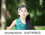 closeup portrait  young girl... | Shutterstock . vector #616790810