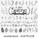 vector floral spring design... | Shutterstock .eps vector #616791158