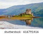 eilean donan castle in scotland....   Shutterstock . vector #616791416