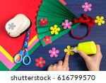 making gift for mother's day by ... | Shutterstock . vector #616799570