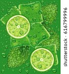 mojito pattern with lime slice  ...   Shutterstock .eps vector #616799996