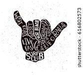 vector lettering illustration   ... | Shutterstock .eps vector #616802573