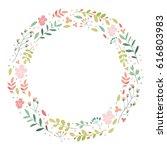 vector flowers frame  botany ... | Shutterstock .eps vector #616803983