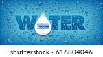water drops on blue background... | Shutterstock .eps vector #616804046