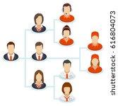 teamwork flow chart. corporate... | Shutterstock . vector #616804073