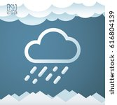 weather icon. flat style for... | Shutterstock .eps vector #616804139