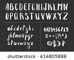 hand drawn brush letters.... | Shutterstock .eps vector #616805888