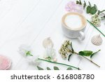 spring flowers and fragrant... | Shutterstock . vector #616808780
