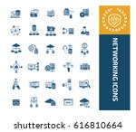 networking icon set design... | Shutterstock .eps vector #616810664
