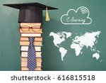 e learning education concept... | Shutterstock . vector #616815518