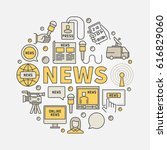news round colorful... | Shutterstock .eps vector #616829060