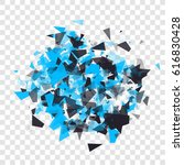abstract triangles particles... | Shutterstock .eps vector #616830428