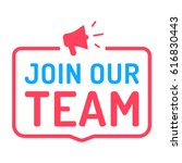 join our team. badge with... | Shutterstock .eps vector #616830443