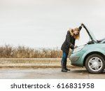 accident and breakdowns with... | Shutterstock . vector #616831958
