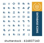 database icon set clean vector | Shutterstock .eps vector #616837160