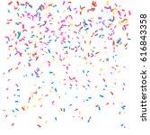 confetti. vector illustration... | Shutterstock .eps vector #616843358