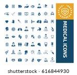 medical icon set clean vector   Shutterstock .eps vector #616844930