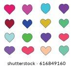 set of heart vector | Shutterstock .eps vector #616849160