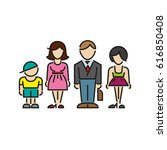 icon family daddy mama... | Shutterstock .eps vector #616850408