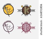 knitting company logo   Shutterstock .eps vector #616851806