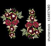 vintage ethnic ornament of... | Shutterstock .eps vector #616857680