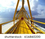 operator on oil and gas... | Shutterstock . vector #616860200