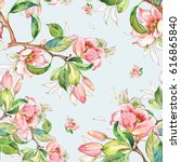 watercolor seamless pattern of... | Shutterstock . vector #616865840