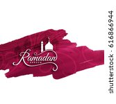 abstract ramadan kareem... | Shutterstock .eps vector #616866944