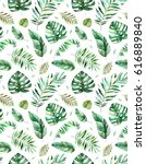 seamless pattern with high... | Shutterstock . vector #616889840