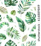 seamless pattern with high... | Shutterstock . vector #616889849