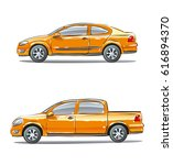 a set of vehicles with... | Shutterstock .eps vector #616894370