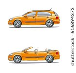 a set of vehicles  different... | Shutterstock .eps vector #616894373
