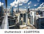 aerial view over a big modern... | Shutterstock . vector #616895906