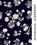 seamless floral pattern in... | Shutterstock .eps vector #616898369