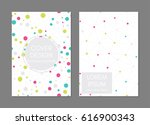 covers with flat geometric... | Shutterstock .eps vector #616900343