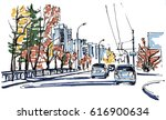urban sketch | Shutterstock .eps vector #616900634