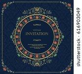 wedding or invitation card ... | Shutterstock .eps vector #616903049