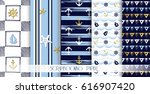 set of sea and nautical... | Shutterstock .eps vector #616907420