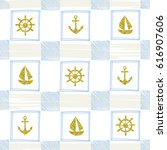 blue and gold pattern in marine ...   Shutterstock .eps vector #616907606
