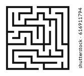 maze game background. labyrinth ... | Shutterstock .eps vector #616911794